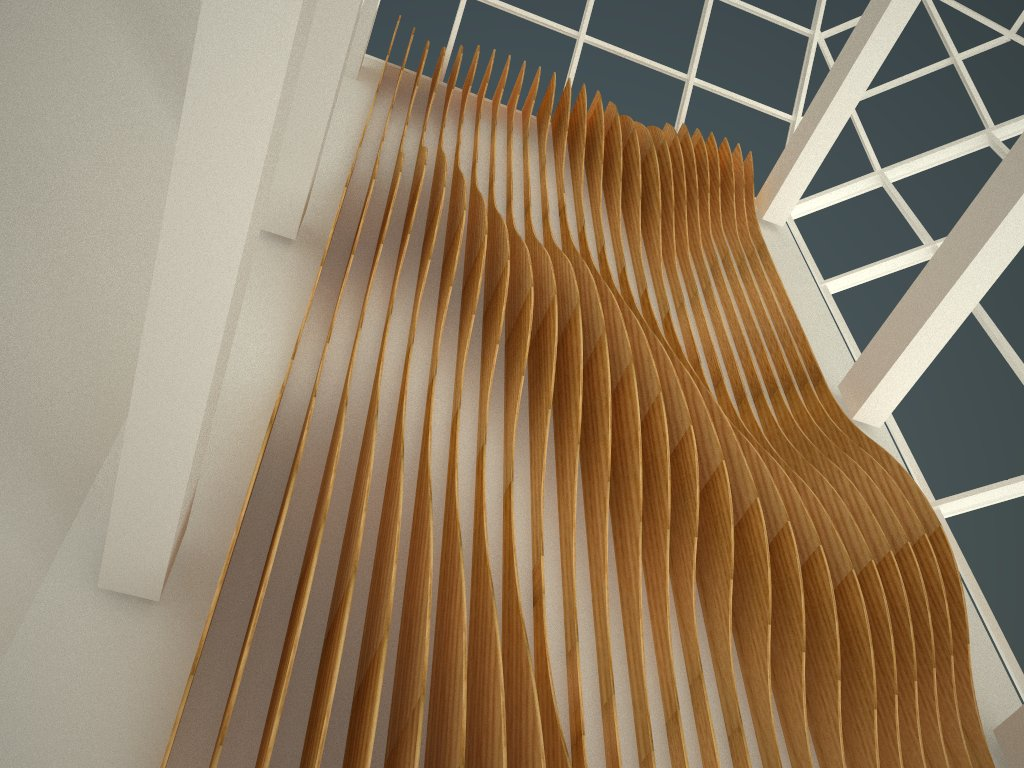 Working for TSKP, ikd, designed this timber based installation for a commerical lobby in Hartford, CT