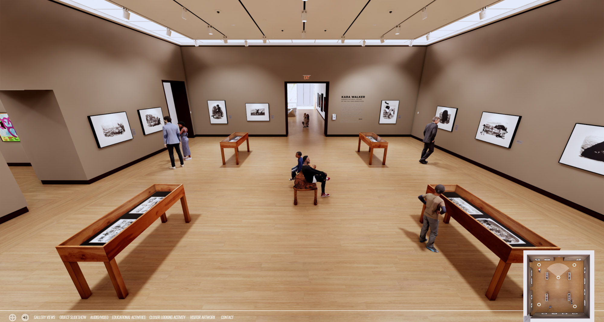 NBMAA asked IKD to develop an interactive VR experience for visitors to experience the Kara Walker Exhibition after the closing the physical exhibition. The tour included the ability to self navigate, diadatics, animated labels, videos content, visitor interactives including a game for children