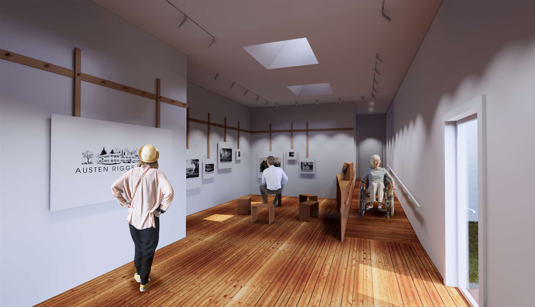 In collaboration with Pamela Sandler Architects, ikd is designing the gallery and exhibition for the 100 Centennial of the Austen Riggs.