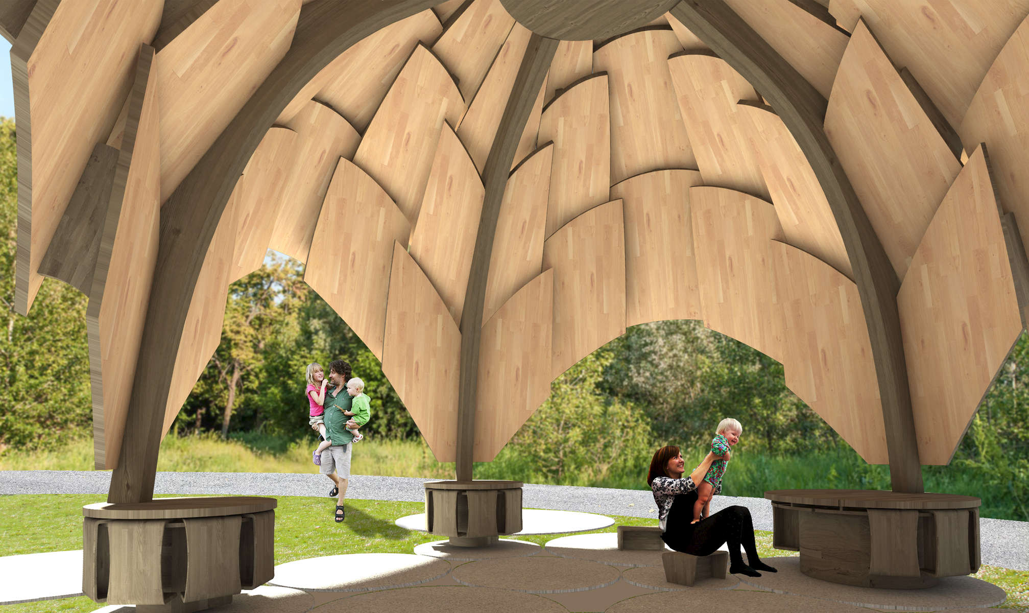 IKD has designed a Cedar CLT permanent educational Pavillion for the Heritage Museums and Gardens. In development.