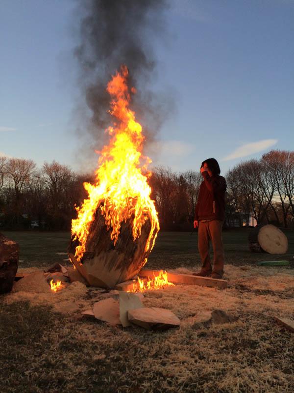 Firewood installation in Bristol, RI