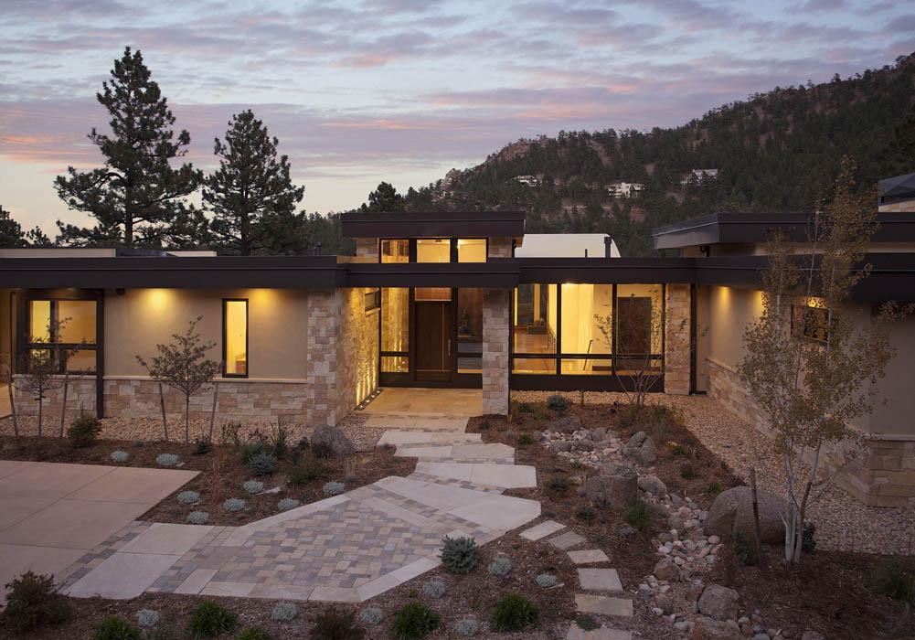 Modern mountain home intro slideshow mosaic architects Colorado home design