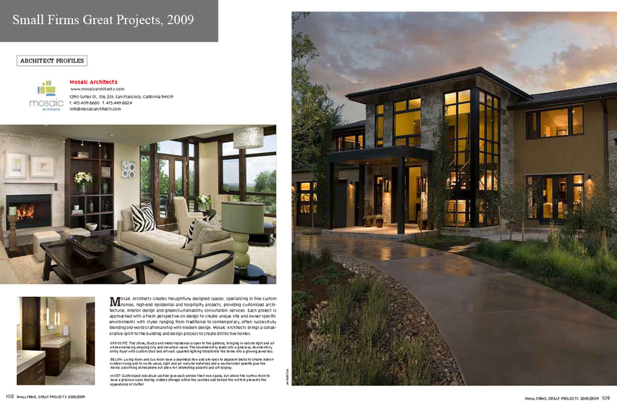 Small firms great projects spread 2009 publications for Small architecture firms