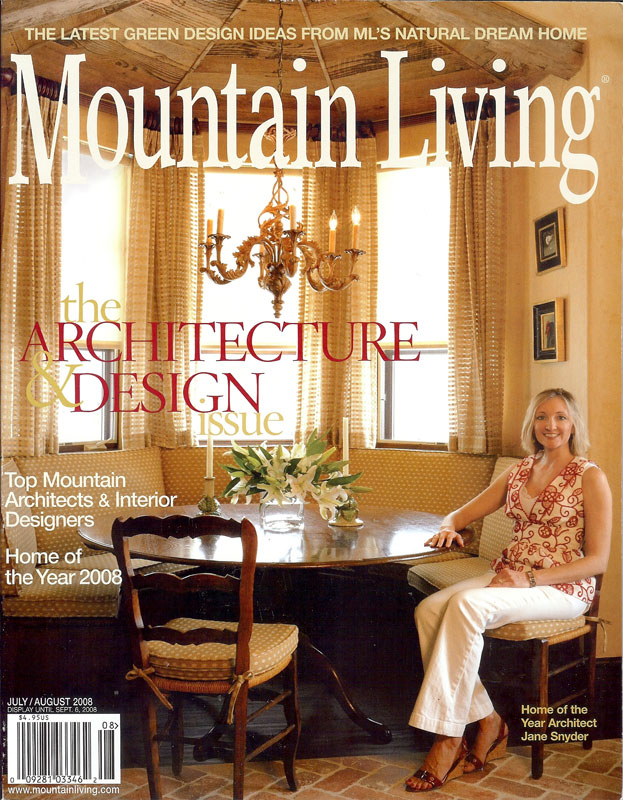 Mountain Living - front cover (July - August 2008)