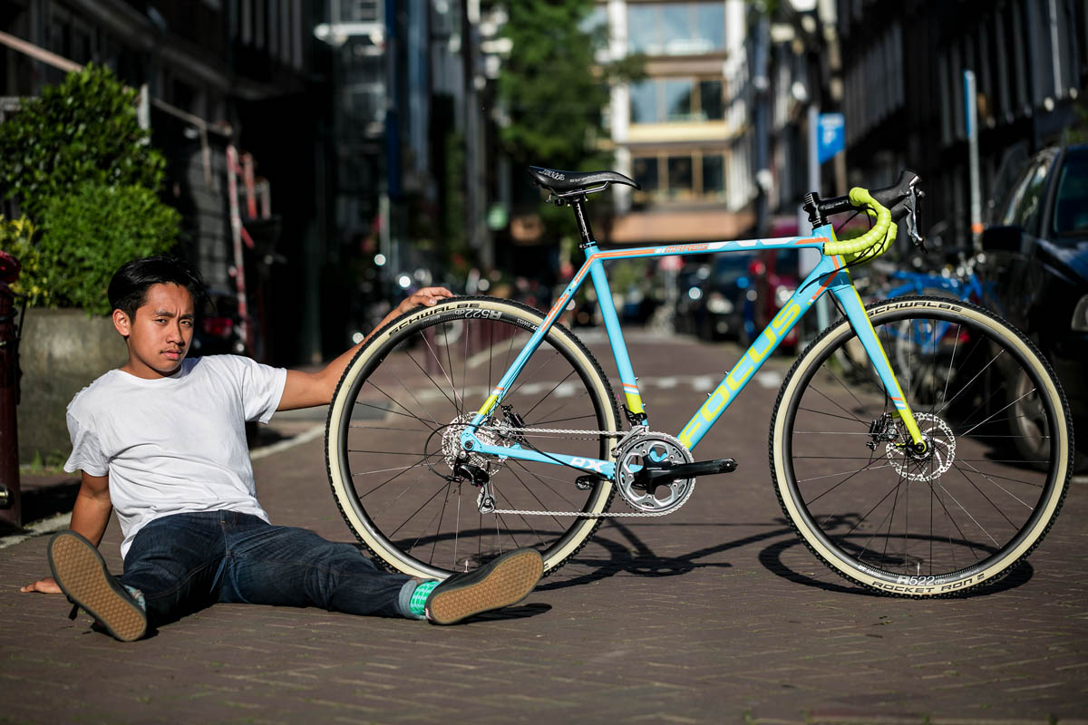 Photographed on the famous Kerkstraat in Amsterdam, outside the former shop of Meesterknecht Cycle City.