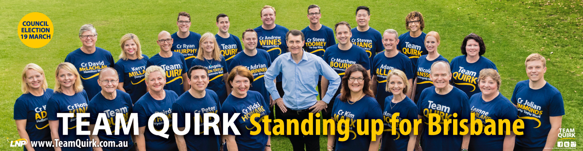 Team Quirk 2015, featuring Lord Mayor Graham Quirk.