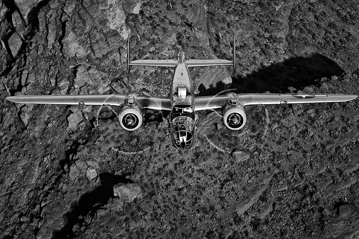 B-25 Mitchell - {quote}Maid in the Shade{quote},Image no: 12-003982.bw NOT FOR SALE - CAF Arizona Wing have copyright to B-25 {quote}Maid in the Shade{quote}