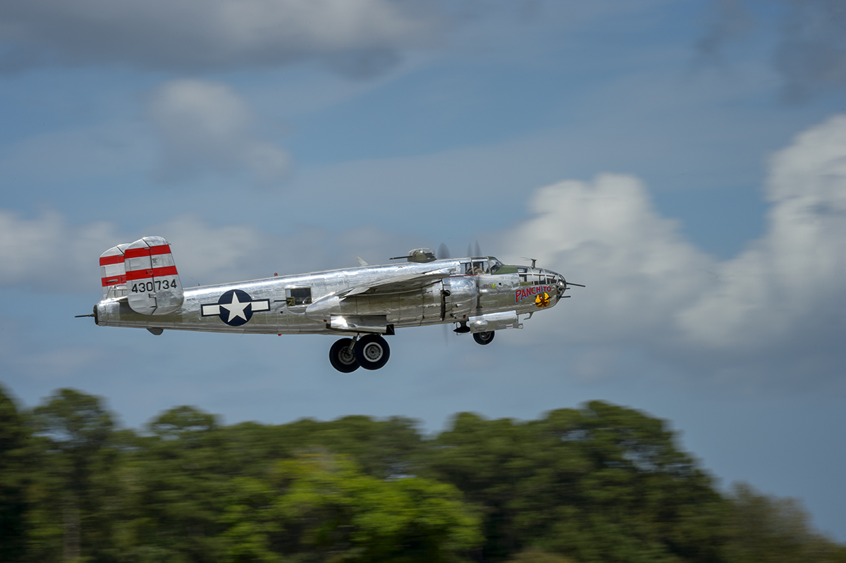 North American Aviation B-25 at theSpace Coast Warbird Airshow in FloridaImage no: 15-017712    Click HERE to Add to Cart