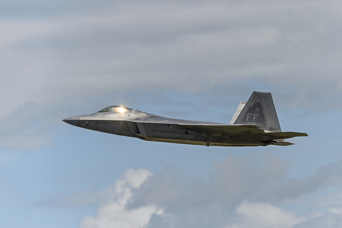 USAF Lockheed Martin F-22A RaptorAviation photography from RIAT RAF Fairford, EnglandImage no: 16-025953   Click HERE to Add to Cart