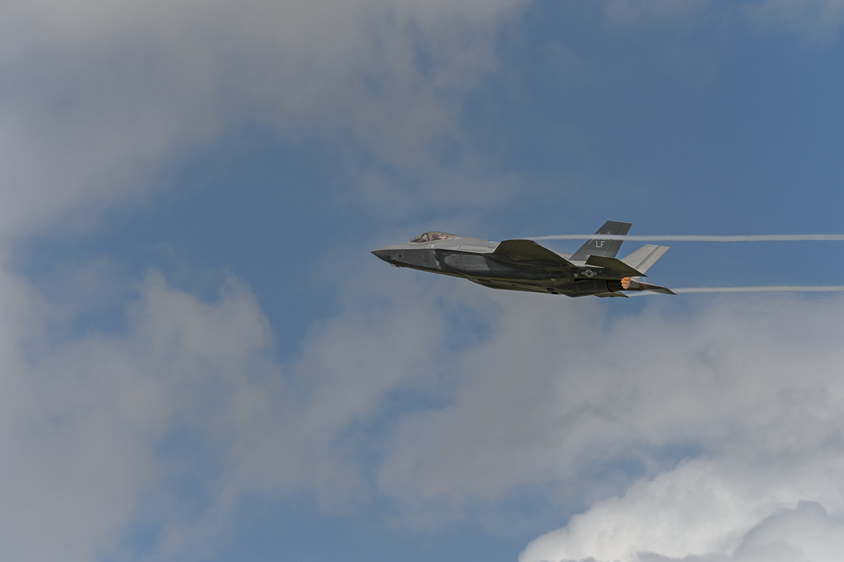 Aviation photography from RIAT RAF Fairford, EnglandUSAF Lockheed Martin F-35A Lightning IIImage no: 16-026205  Click HERE to Add to Cart