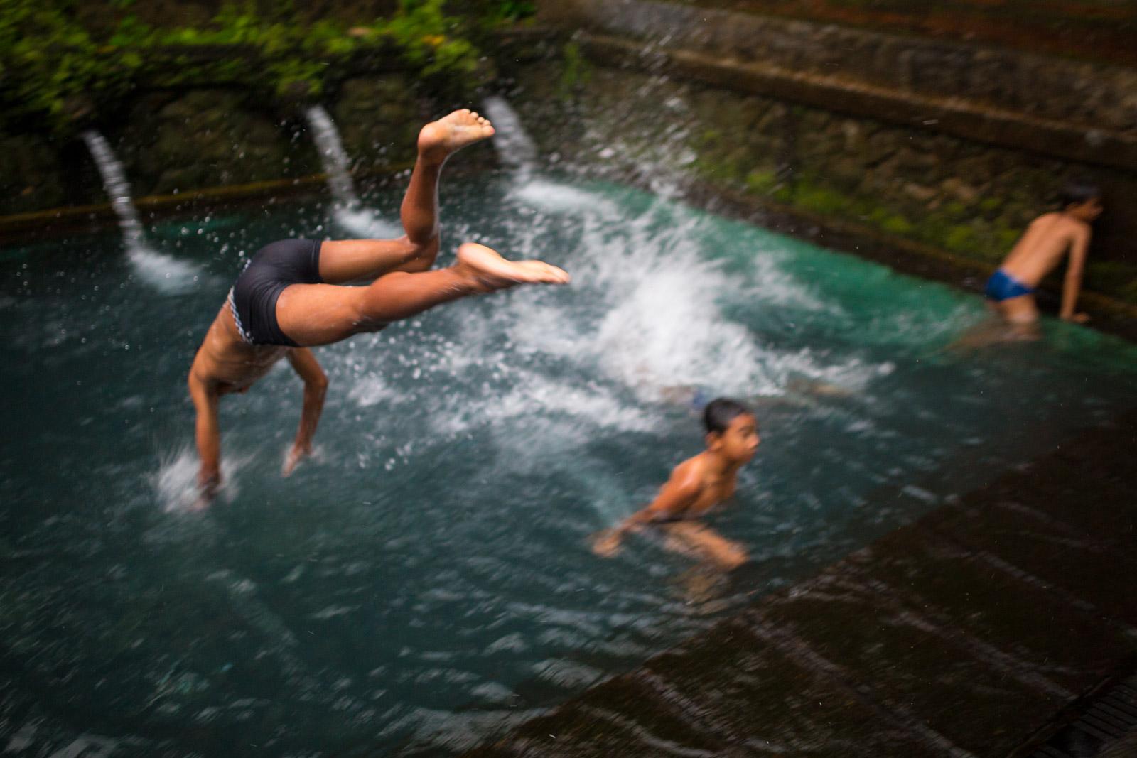 Public baths in Bali, Indonesia