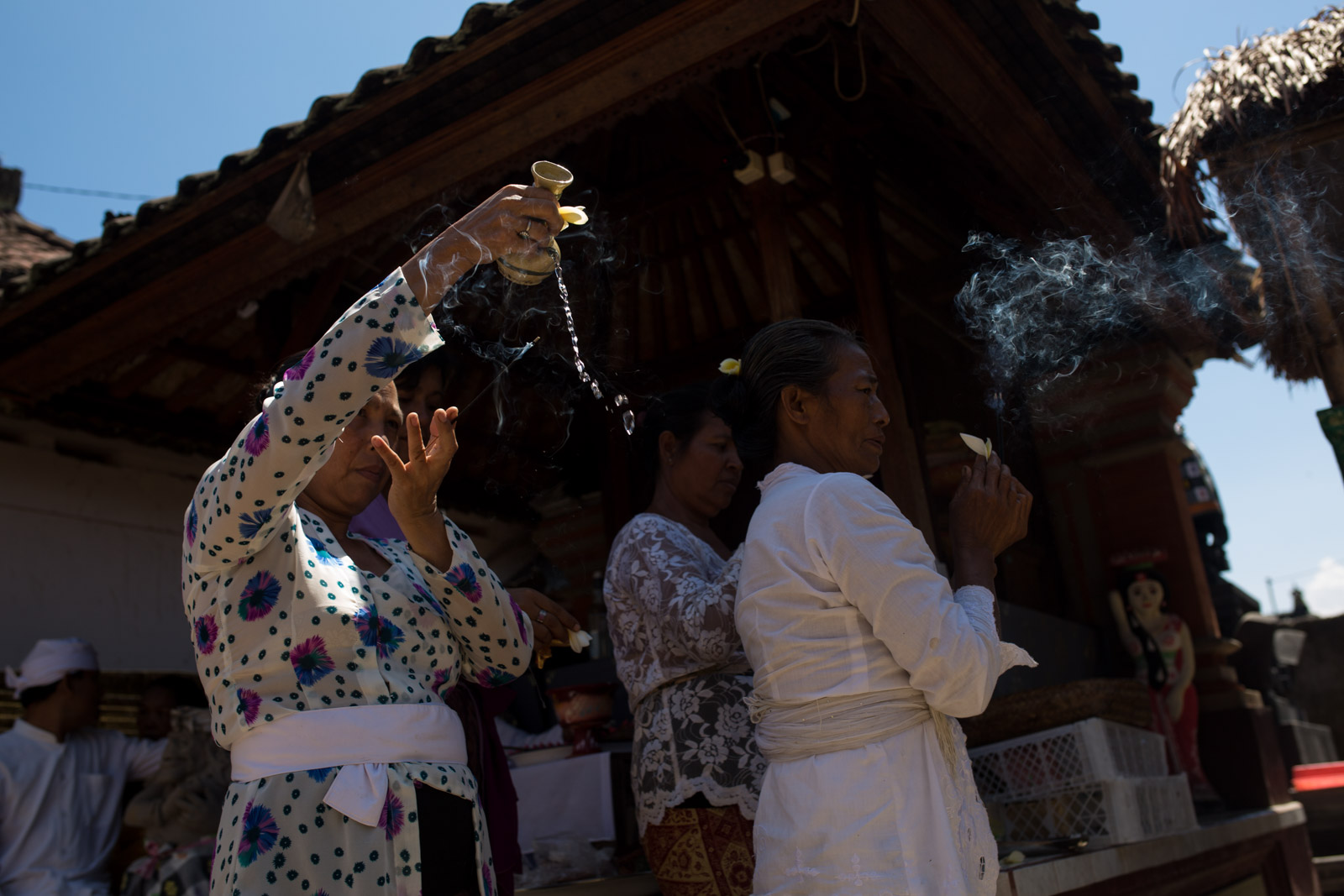 Temple opening ceremony for Buana's family