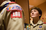 At the annual New Mexico Boyscouts luncheon, young men line up to receive their Eagle Scout Badge, the highest honor that you can receive as a boyscout.