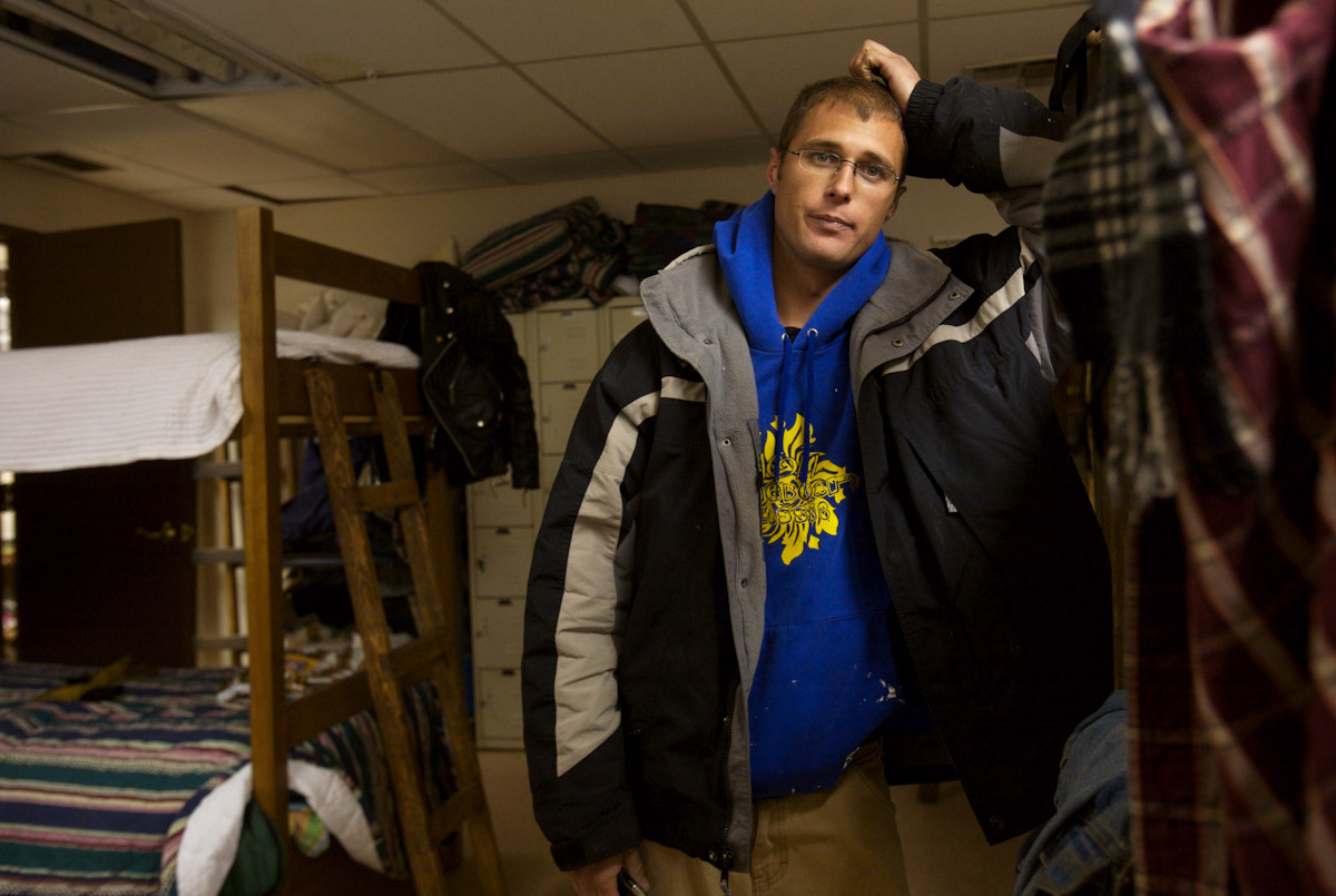Joshua Cooper doesn't plan on staying at the Taos Men's Shelter for long. Cooper said he was recently evicted from a house he shared with a roommate after a party his roommate hosted.