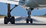 A Thomas Cook 757 right before take off. Skiathos Airport (JSI), Greece