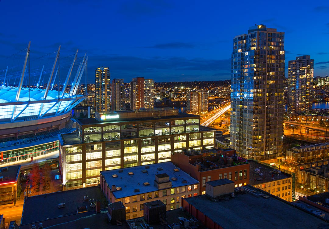 BC Place is a multi-purpose stadium located at the north side of False Creek, in Vancouver, British Columbia, Canada.