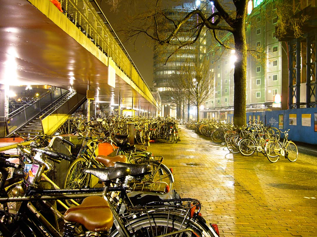 An eco friendly parking lot - Amsterdam, The Netherlands