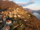 Monte Brè is a small mountain east of Lugano on the flank of Monte Boglia with a view of the bay of Lugano and the Pennine Alps and the Bernese Alps. It is considered one of the sunniest points in Switzerland.