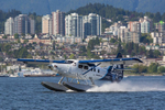 A de Havilland Canada DHC-3 Otter coming home to its sea base. Vancouver, Canada