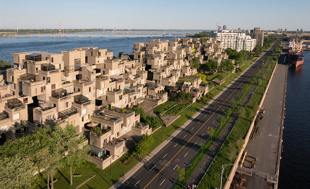 Habitat 67, or simply Habitat, is a model community and housing complex in Montreal, Canada, designed by Israeli–Canadian architect Moshe Safdie. It was originally conceived as his master's thesis in architecture at McGill University and then built as a pavilion for Expo 67, the World's Fair held from April to October 1967. Habitat 67 is widely considered an architectural landmark and one of the most recognizable and significant buildings in both Montreal and Canada.[1][2] It has been reported many times as one of the top 10 ugliest buildings in North America and the world.