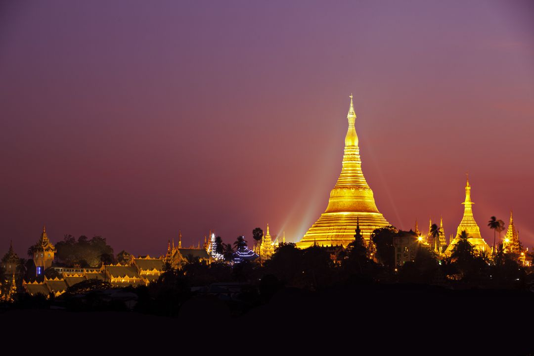 This is the most famous gold temple in Myanmar. Its over 360 feet tall and has 5,448 diamonds and 2,317 rubies. It also has a 76 carat diamond at the top. According to historical records, the Shwedagon Pagoda has existed for more than 2,600 years, making it the oldest historical pagoda in Burma and the world. Yangon - Myanmar