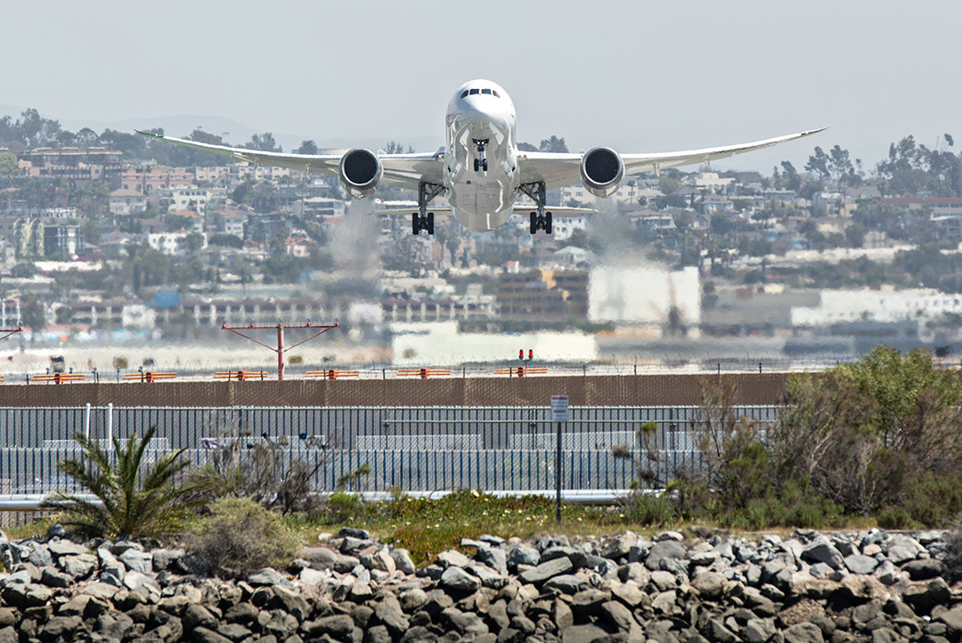 Departing San Diego International (SAN) for Tokyo, Japan (NRT) on its daily flight.