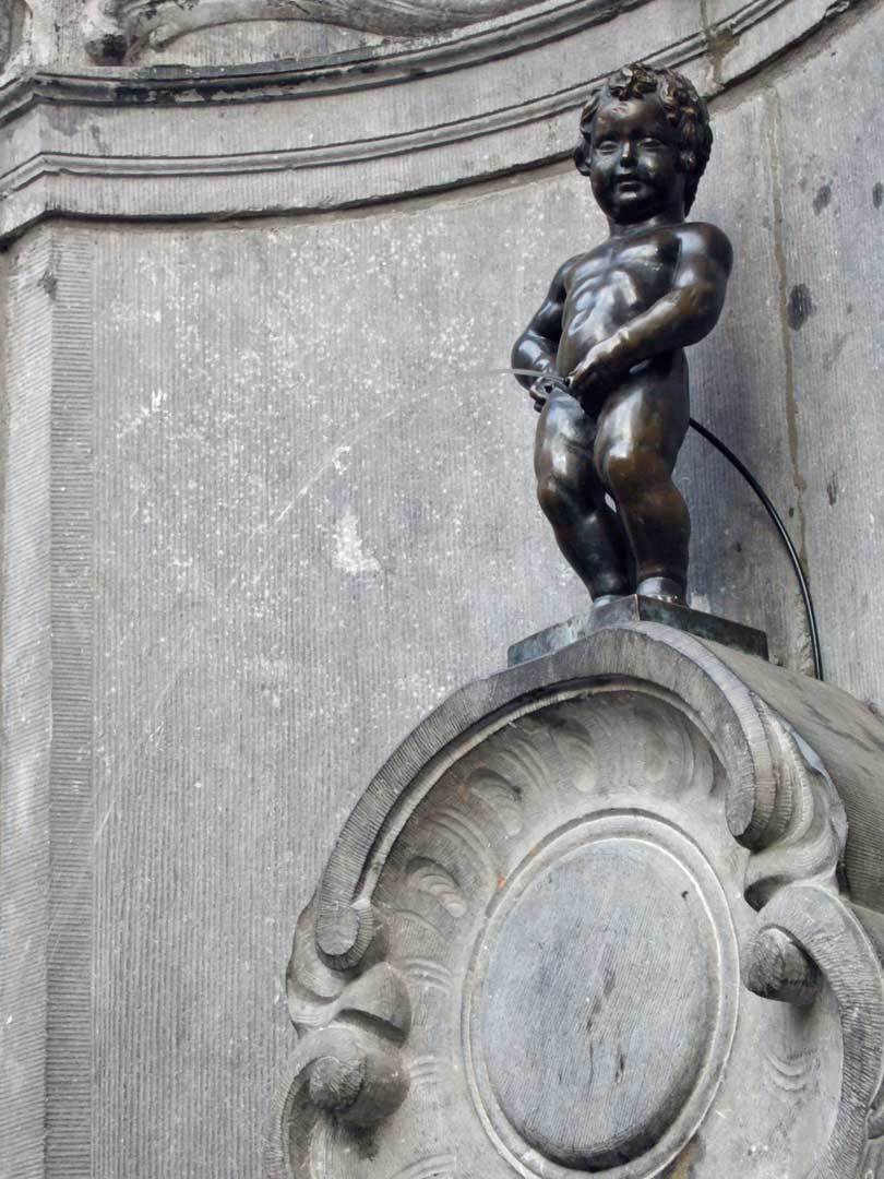 The current version of Manneken Pis was built in 1619 - Brussels, Belgium