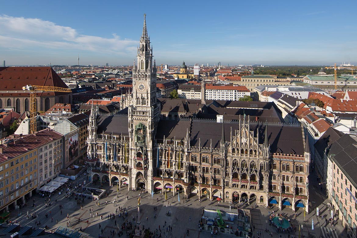 A view of Marienplatz in Munich