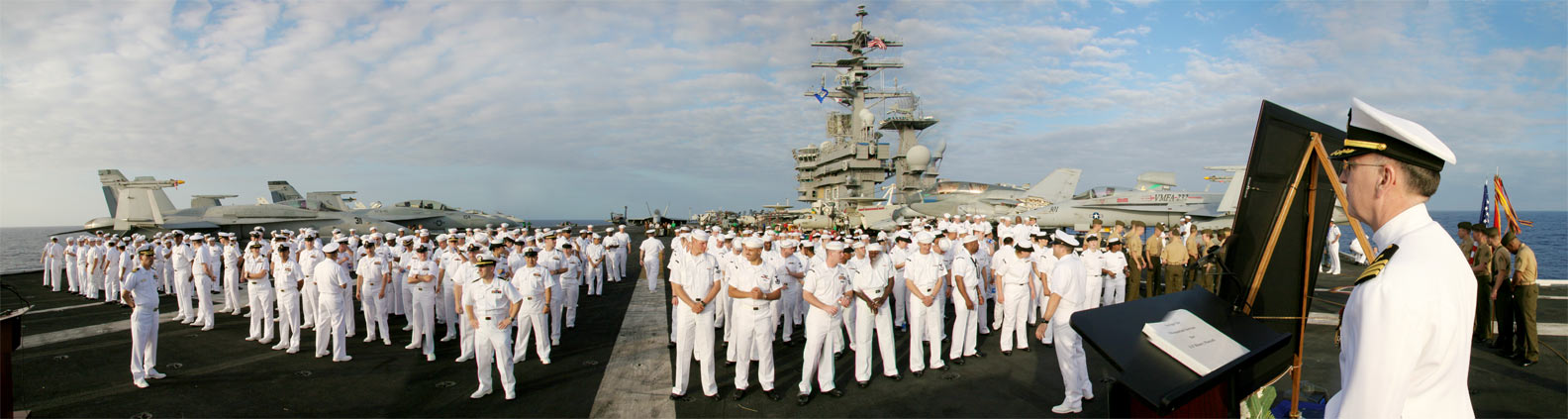 On location filming {quote}Stealth{quote} - USS Nimitz (CVN-68) at sea 100 miles southwest of Hawaii.