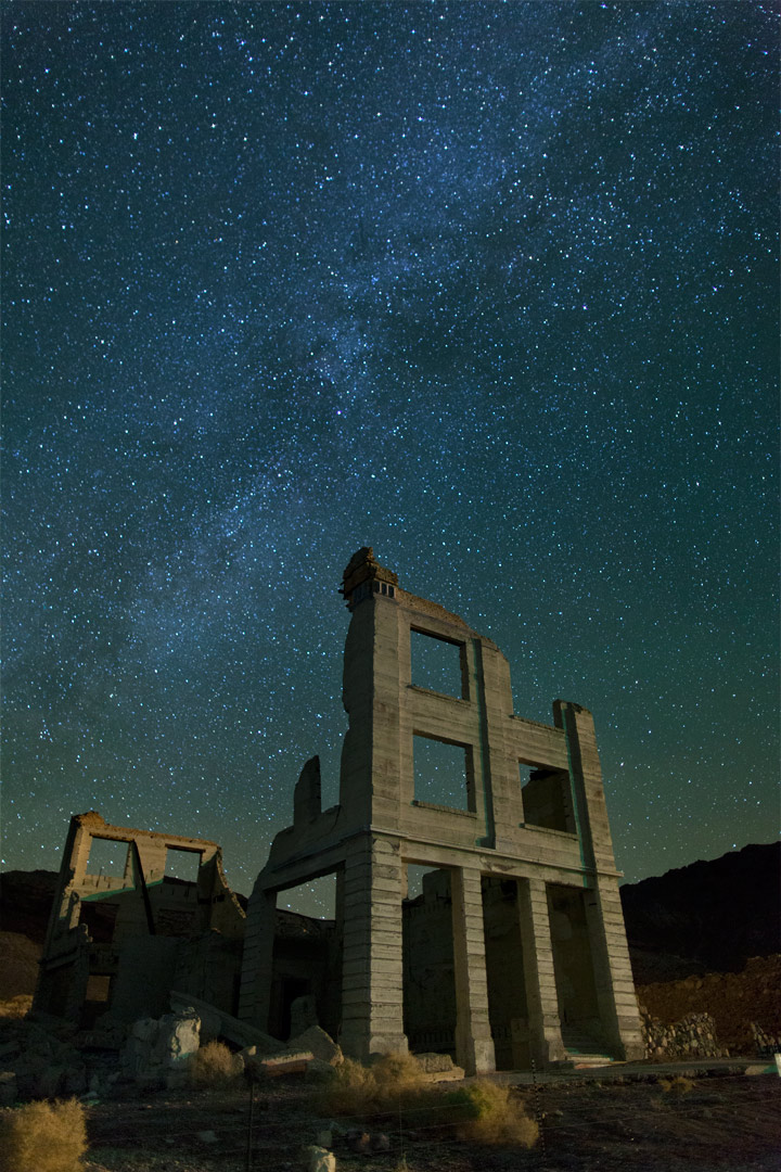 Ruins of the Cook Bank building built in 1905. Nye County, Nevada
