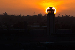 San Diego Airport (SAN) at sunset