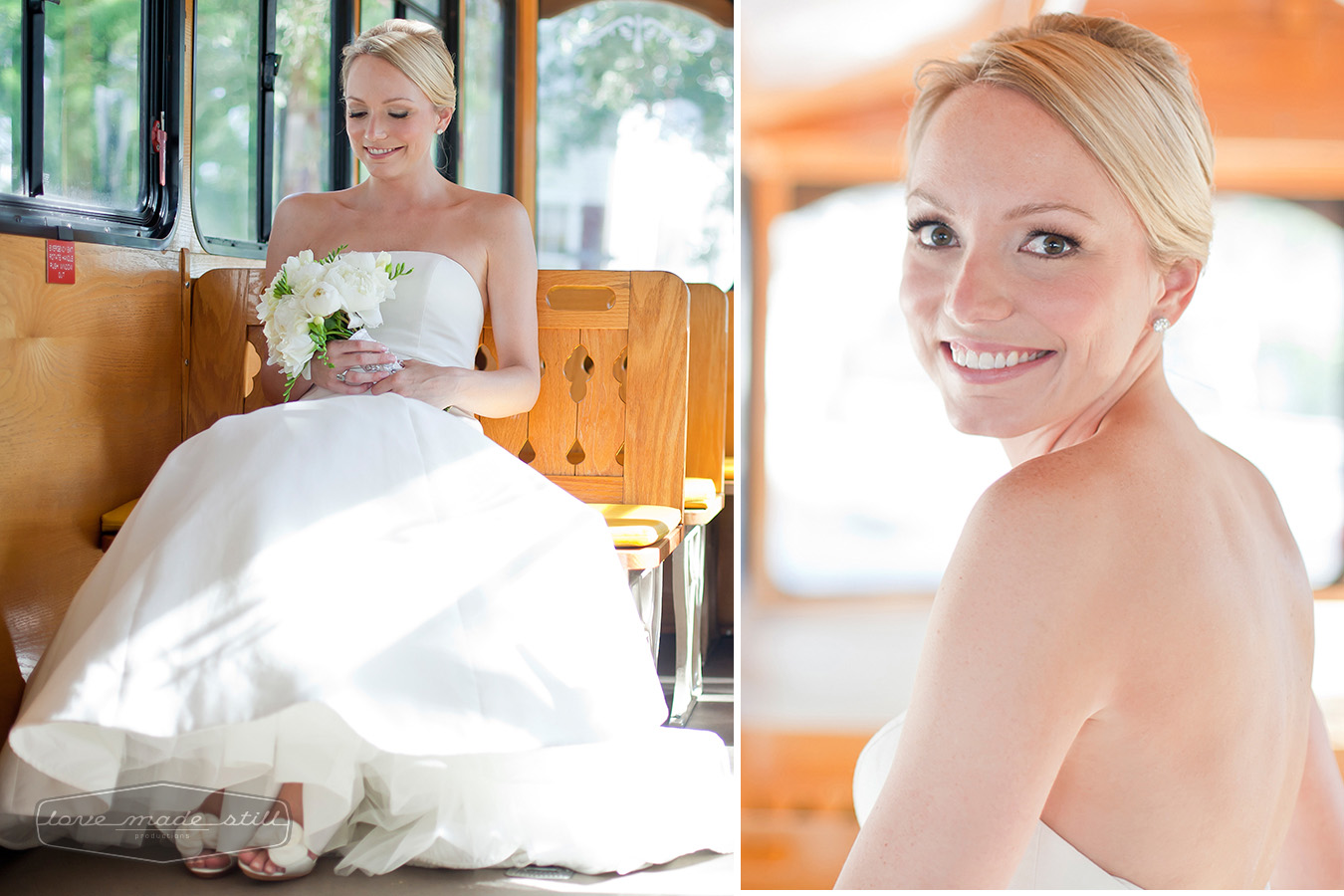 Beautiful portrait of the bride using natural light