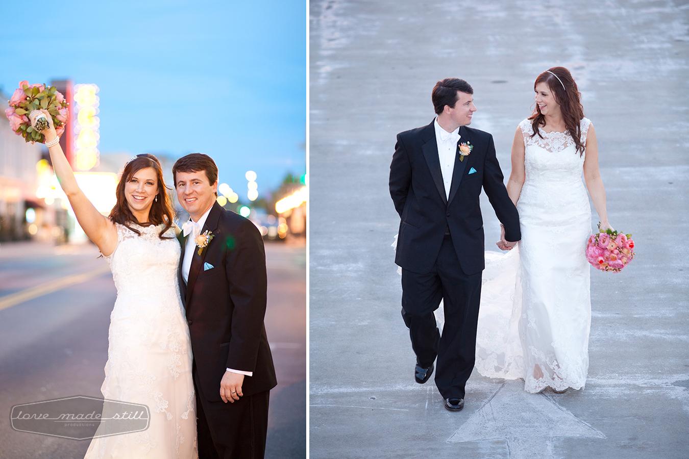 Candid portraits captured of wedding couple