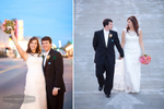 Candid portraits captured of wedding couple