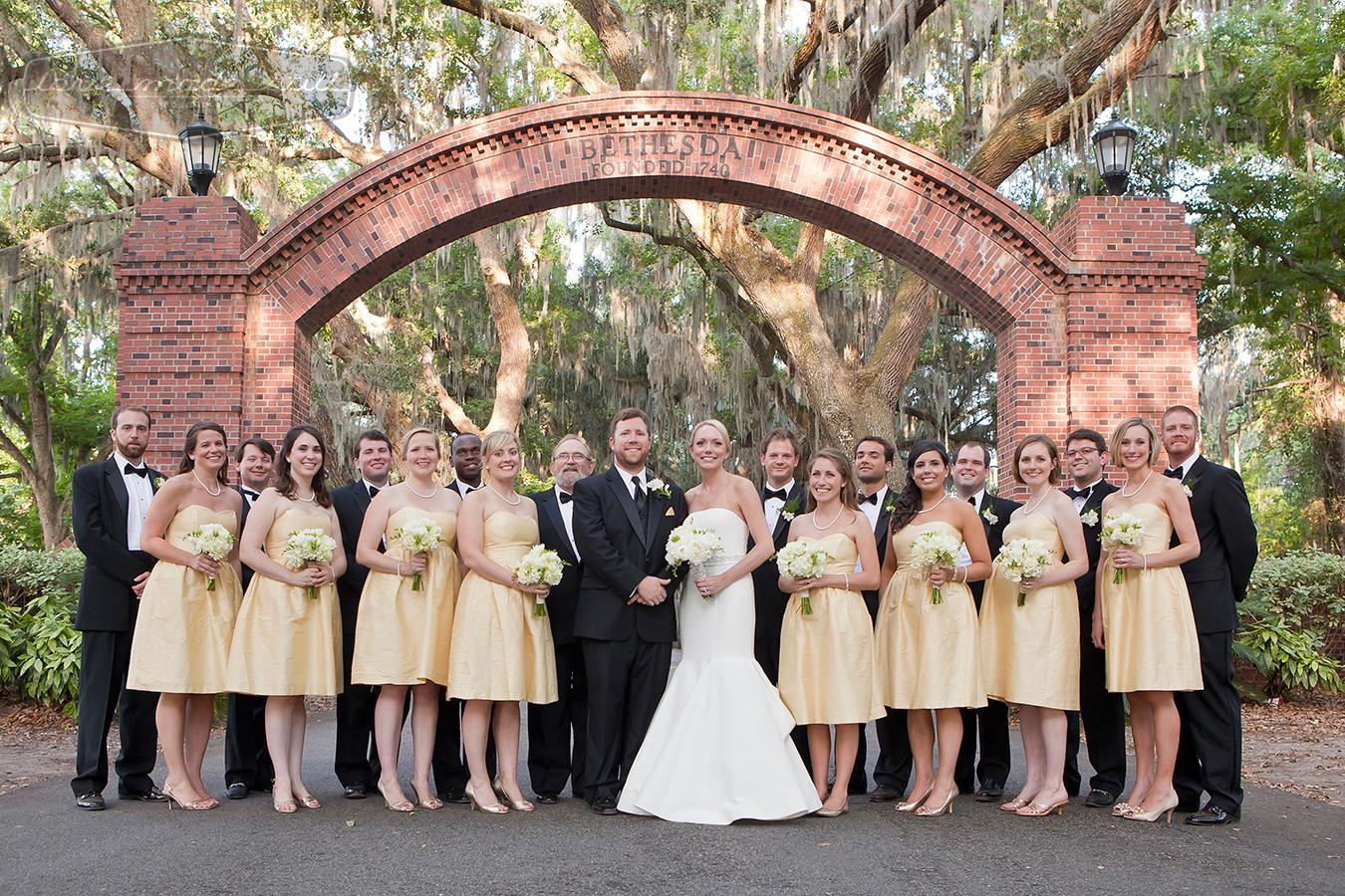 wedding party in historic Savannah Ga