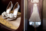 The perfect wedding shoes and wedding dress captured by Love Made Still