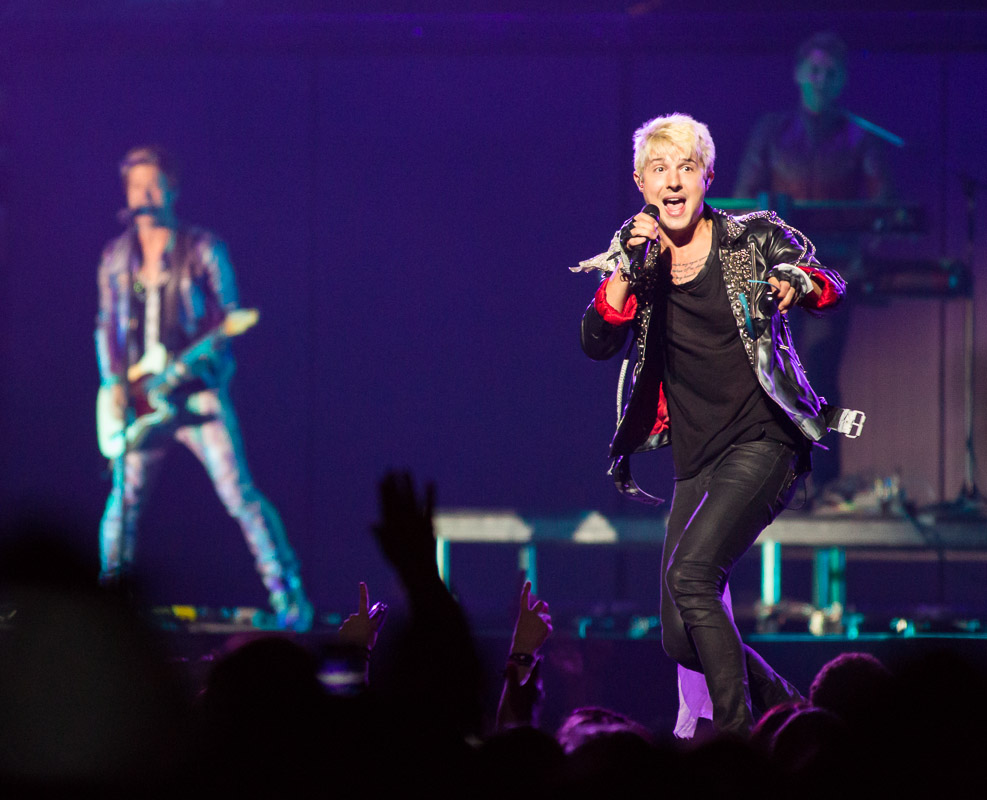Hot Chelle Rae performs at the Wells Fargo Center in Philadelphia.