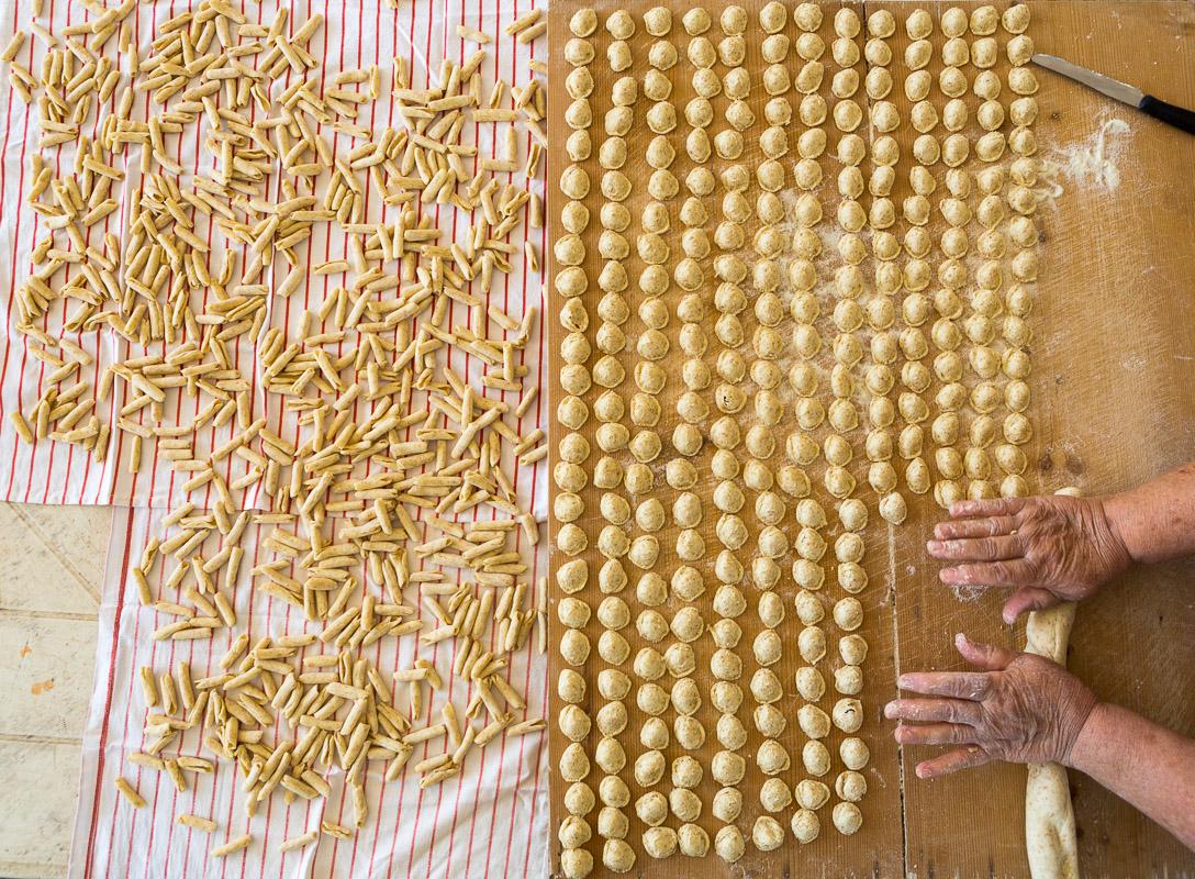 Making pasta in San Pietro in Bevagna, Puglia.