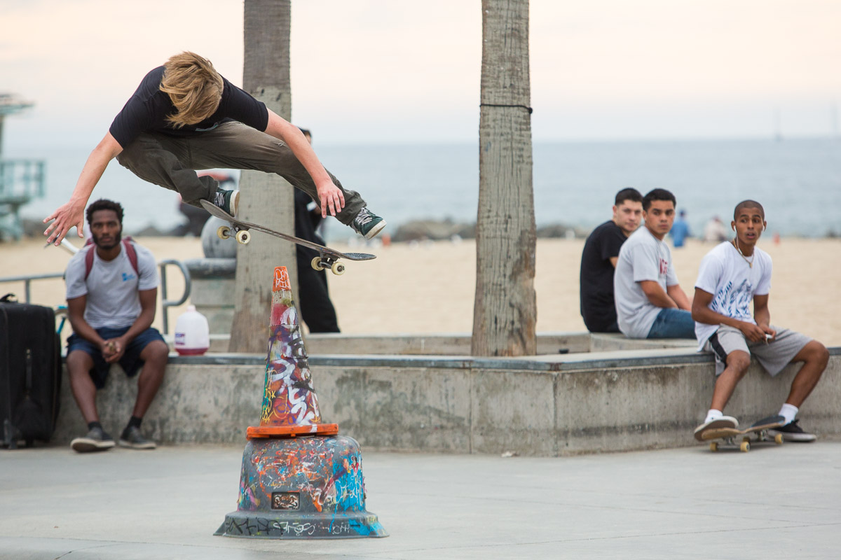 Skateboard park in Venice Beach, California