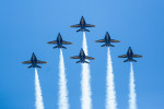 The Blue Angels fly over Philadelphia to honor Covid-19 frontline responders.