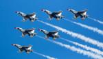 The Thunderbirds fly over Philadelphia to honor Covid-19 frontline responders.