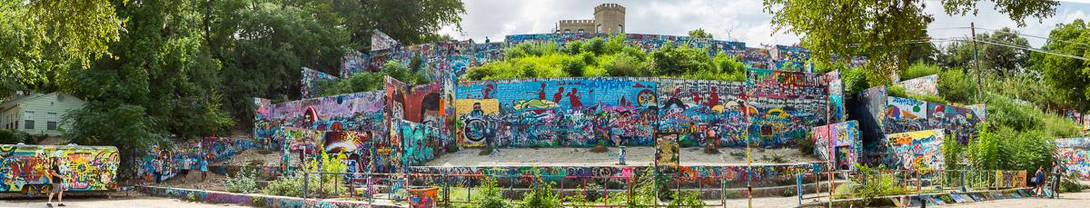 Graffiti Park at Castle Hill in Austin, Tx.