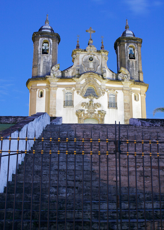 The church of Nossa Senhora do Carmo, constructed between 1776 and 1772 in Ouro Preto, Minas Gerais.