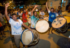 Members of maracatu Naçao Estrela Brilhante parade in Recife, Pernambuco.
