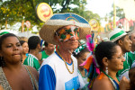 A street celebration during carnival in Olinda, Pernambuco.