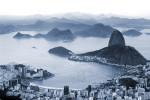 Sugar Loaf Mountain and Botafogo beach in Rio de Janeiro.