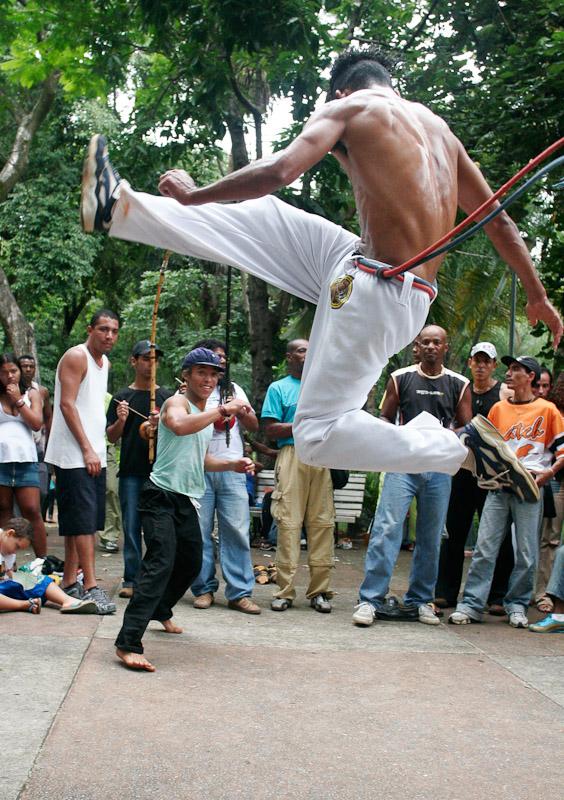 Capoeira dancers in Belo Horizonte, Minas Gerais.