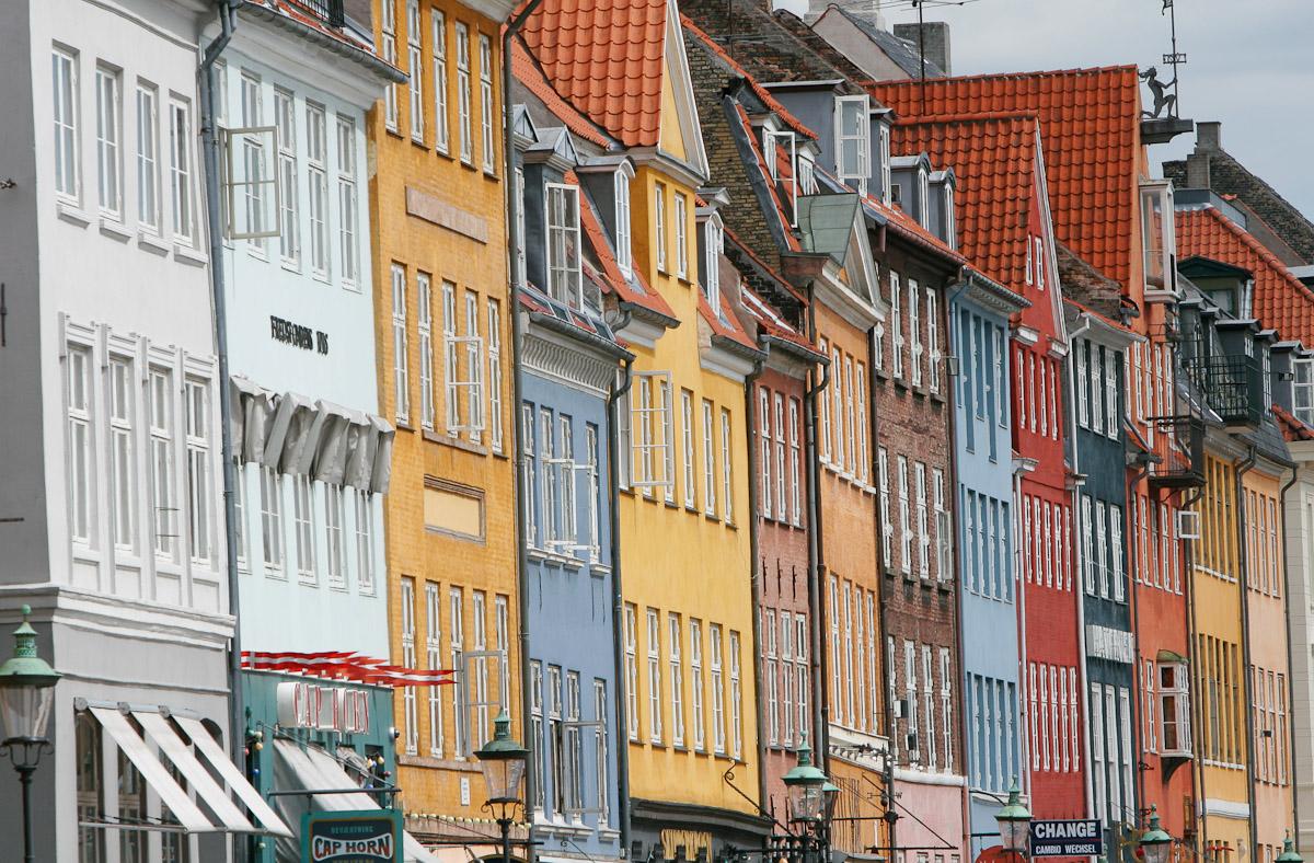 Nyhavn harbor in Copenhagen, Denmark.