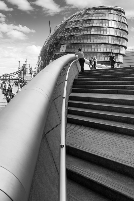 The City Hall building in Southwark, London, designed by Sir Norman Foster.