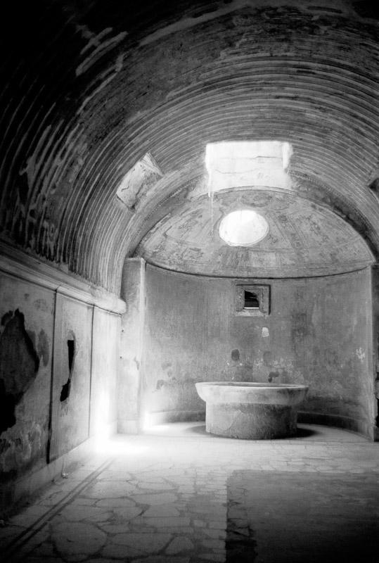 A Roman bath house at Hadrian's Villa in Tivoli, Italy.